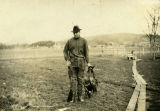 Charlie Davis and geese, Wallowa County, Washington, circa 1915-1920