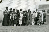 "Pataha City School students ""dressed up"", Pataha, Washington, circa 1930"