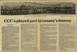 CCC's played part in county's history, Pomeroy, Washington, April 10, 1985