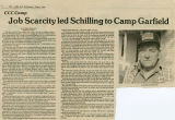 Job scarcity led Schilling to Camp Garfield, Pomeroy, Washington, May 1, 1985