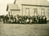Sunday school and church group at the District 15 school house, Horse Heaven Hills, Prosser,...