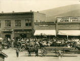 Businesses on Bennett Ave, downtown Prosser, Washington, July 15, 1907