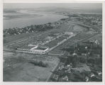 Aerial view of uptown Richland, Washington, circa 1950s