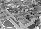 Aerial view of downtown Ritzville, Washington, June 14, 1945