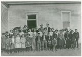 Lind's first school and students