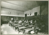 Lind's middle school math classroom, Lind, Washington, circa 1900-1918