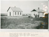 Booker / Gem schoolhouse and cottage, Adams County, Washington, circa 1917