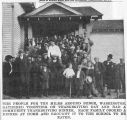 Benge community Thanksgiving dinner, Benge, Washington, circa 1927