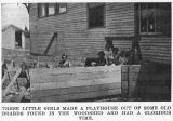Benge school students built a playhouse, Benge, Washington, 1927