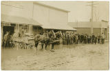 Meat market after a flood, Rockford Washington, 1910
