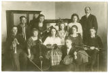 Music students with their teacher, Rockford, Washington, ca. 1910-1929