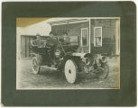 Car with wooden wheels, Rockford Washington, circa 1920-1929