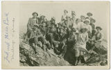 Mithoughs and friends on the rocks at Mica Peak, Washington, ca. 1910-1919