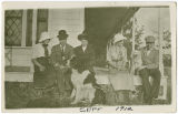 Family on a the front porch, Rockford, Washington, September 1912