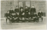 Rockford High School football team portrait, Rockford, Washington, ca. 1910-1929