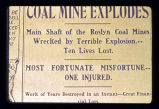 1909 mine explosion: 'A terrible explosion'