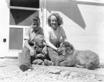 Berna and kids at Del Ducco milkhouse, May 1941
