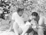 Beatrice Henderson and Pio, Lake Chelan area, July 1942