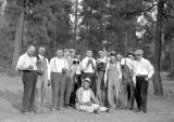 Bocce, group of men, fall of 1934