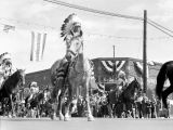 Ellensburg Rodeo parade, Native American procession, 2 of 2, September 2, 1940