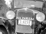 Pio Panieri name plate on Ford, March 1940