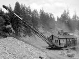 Cle Elum Lake Dam project, Monighan Crane, May 1932