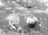 Ingalls Ridge, Pio and Father Paul, sitting, July 22, 1938