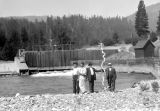 Cle Elum Dam, group of four men, July 26, 1931