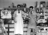 Roslyn Bakery, Rubino and Leo Ross inside store, April 1940