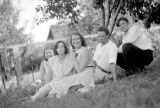 Steve Kauzlarich with Mary, Misses Mucilin and Tanatich, July 19, 1931