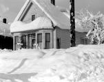 Don Arinorie's House covered in snow, December, 1948