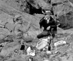 Father Paul and Joe Kane at lunch at Ingalls Lake, August 16, 1935