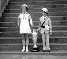 Loretta Ashurst and Bromley Jr of the FOE Drill Team, July 4, 1936