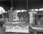 Liberty Float, Queen and Attendants, July 4, 1936
