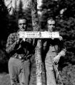 Joe Kane and Pio Panieri near summit of Mt Margaret September, 1935