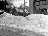 Shoe Store snow scene, Winter 1937
