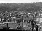 Roslyn, looking NE towards Brookside and Catholic Church, April 18, 1937