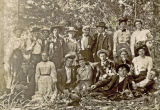 Outdoor group portrait, circa 1890s