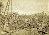 Laying a cornerstone ceremony, circa 1866