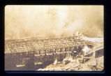 1909 mine explosion: Aftermath blaze