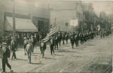 Roslyn lodge marching down First Street, early 1900s