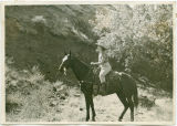 Vernita Whited on horseback