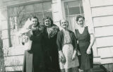 Julia Wallgren with mother, grandmother and aunt