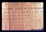 1909 mine explosion: 'Wild scenes of anguish'