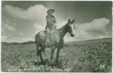 """The Singing Cowboy,"" Tom Whited on horseback"