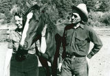 Pat Woodell's parents with a Hidden Valley Ranch horse