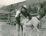 Pat Woodell with a colt and its mother