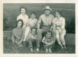 Pat Woodell with her children and parents at Sky Meadows