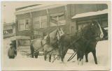 K.O. Lund delivering milk after 1916 snowstorm