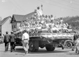 Fourth of July, Liberty Wagon float, Roslyn, Washington 1933